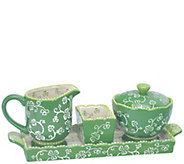 Temp-tations Floral Lace Sugar and Creamer Setwith Tray - H303261