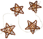 ED On Air Set of 2 10 Rattan Star Light Strand by Ellen DeGeneres - H206262
