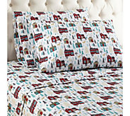 Shavel Micro Flannel(R) Printed Queen Sheet Set - H290462