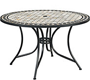 Home Styles Marble Top 51 Round Outdoor DiningTable - H291762