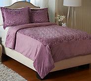 Dennis Basso Royal Ivy Sheared Mink King Comforter and Sham Set - H206463