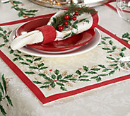 Lenox Holiday Set of 4 13 x 19 Water Repel Placemats - H210463