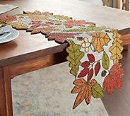 36 Beaded Embellished Harvest Leaves Table Runner by Valerie - H216463
