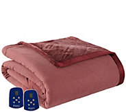Shavel Micro Flannel to Ultra Velvet Queen Electric Blanket - H301963