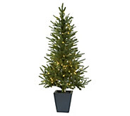 46 Christmas Tree in Decorative Planter by Nearly Natural - H302663