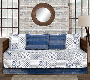Monique 6-Piece Blue Daybed Cover Set by