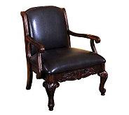 Sheffield Antiqued Dark Cherry Finish Accent Chair - H359463