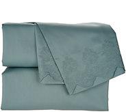 Casa Zeta-Jones Signature Lace 400TC Cotton Embroidered Hem Sheet Set - H213364