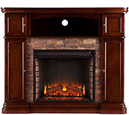 Hillcrest Faux Stone Electric Media Fireplace - H291064