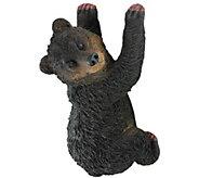Design Toscano Yonva Climbing Black Bear Statue - H300564