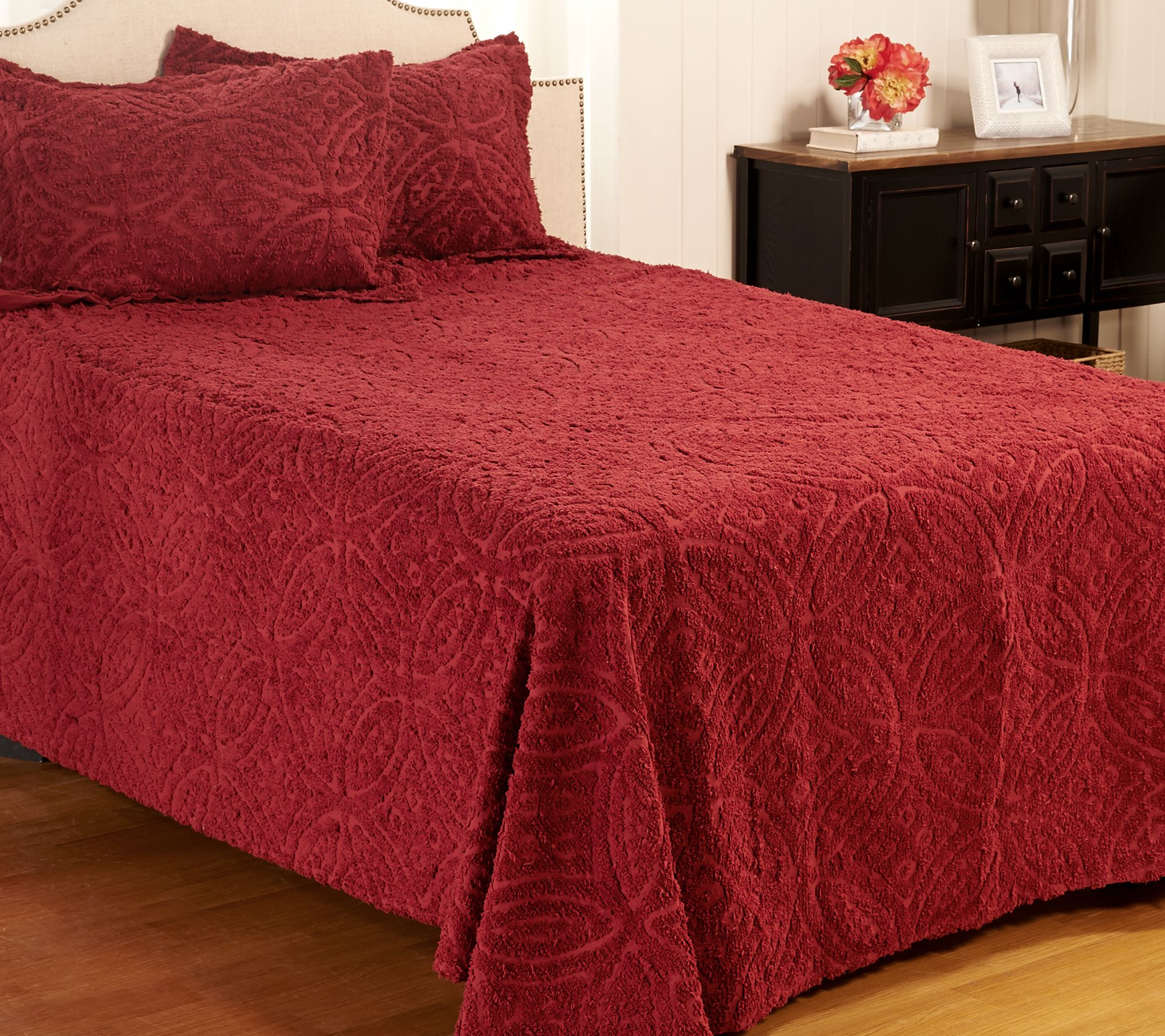twin chenille bedspread wedding ring chenille 100 cotton bedspread with sham 2989