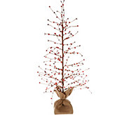 Bethlehem Lights 36 Lit Beaded Berry Branch Tree w/Burlap Base - H211965