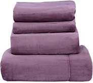 Berkshire Blanket Velvet Soft Cozy Cal. King Sheet Set - H212665