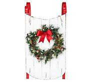 Scott Living 34 Decorative Sled with Illuminated Wreath - H214065