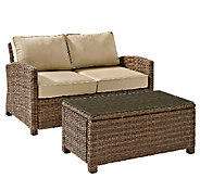 Crosley Bradenton 2-Pc Wicker Seating Set withCushions - H286665