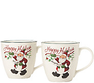 Pfaltzgraff Winterberry Naughty and Nice Mug -Set of 2 - H287165