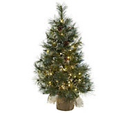 3 Christmas Tree in Burlap Bag by Nearly Natural - H302665