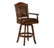 Hillsdale Furniture Nassau Game Swivel LeatherBarStool - H142066