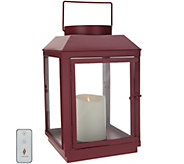 Martha Stewart Indoor/Outdoor 14 Lantern w/ Pillar Candle & Remote - H217166