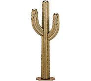 Desert Steel 6.5 Saguaro Garden Cactus Statueand Tiki Torch - H284566