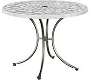 Home Styles Capri Concrete Stenciled Round Outdoor Table - H291766