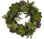 20 Succulent Wreath by Nearly Natural - H292166
