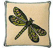 Dragonfly Hooked Throw Pillow by Plow & Hearth - H372466