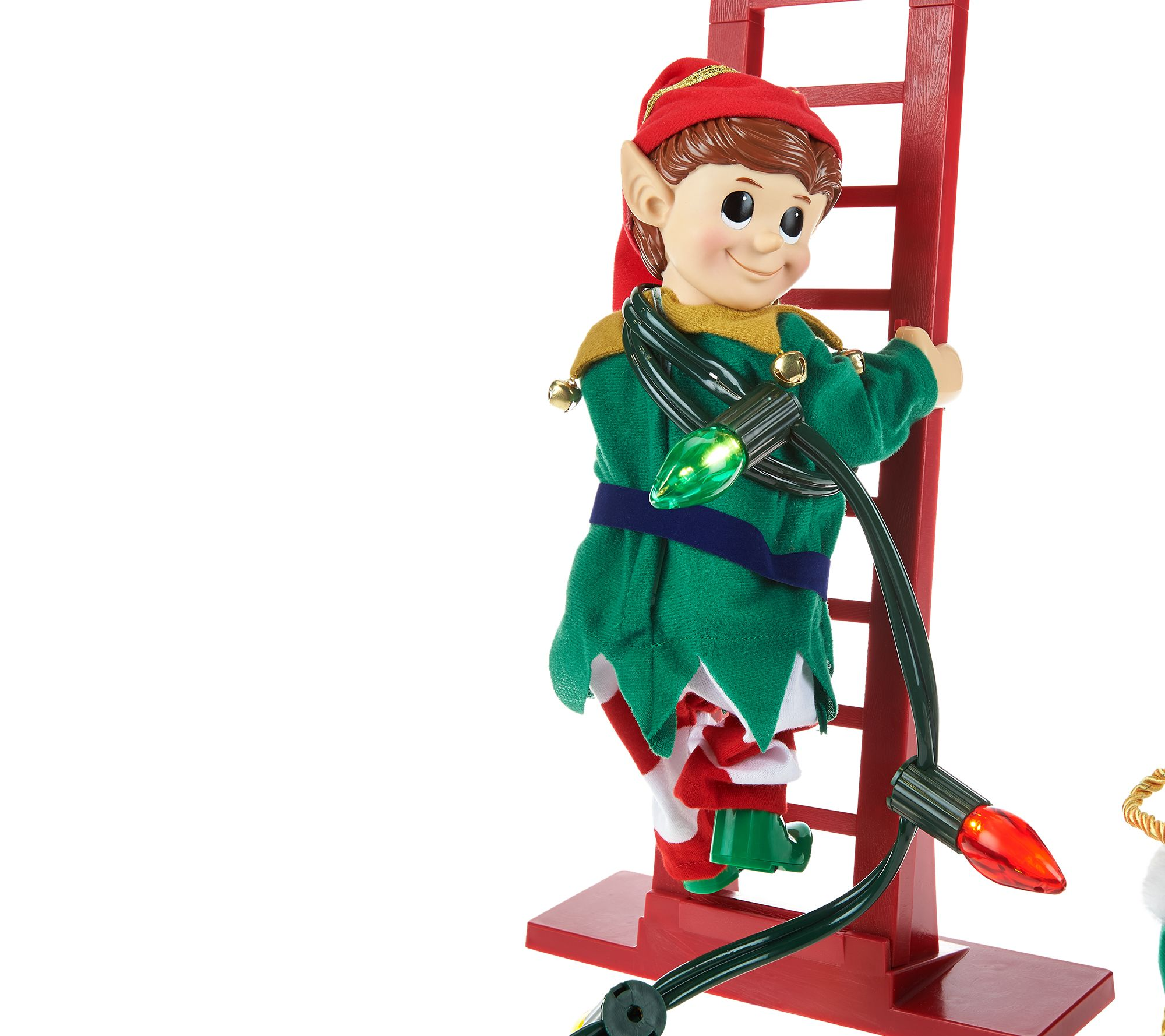mr christmas animated and musical stepping elf page 1 qvccom - Animated Christmas Elves Decorations