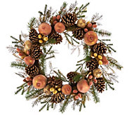 21 Vintage Metallic Sugared & Beaded Fruit Wreath - H209567
