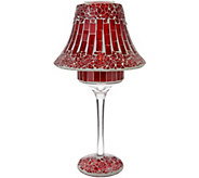 Mosaic Glass Tile Lamp with Tealight by Valerie - H211567