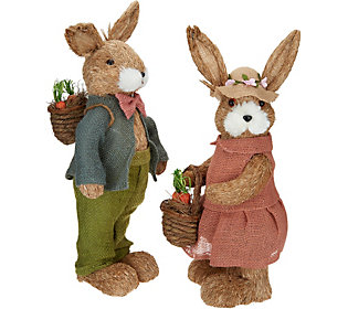 2-Piece Spring Sisal Bunny Coupleby Valerie
