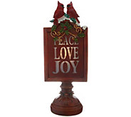 15 Illuminated Joy, Peace, and Love Sign by Valerie - H215167
