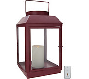 Martha Stewart Indoor/Outdoor 17 Lantern w/ Pillar Candle Remote - H217167