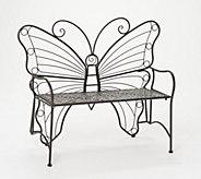 Indoor/Outdoor Metal Butterfly Garden Bench by Valerie - H218467