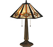 Meyda Tiffany-Style 26 Crosshairs Mission Table Lamp - H294067