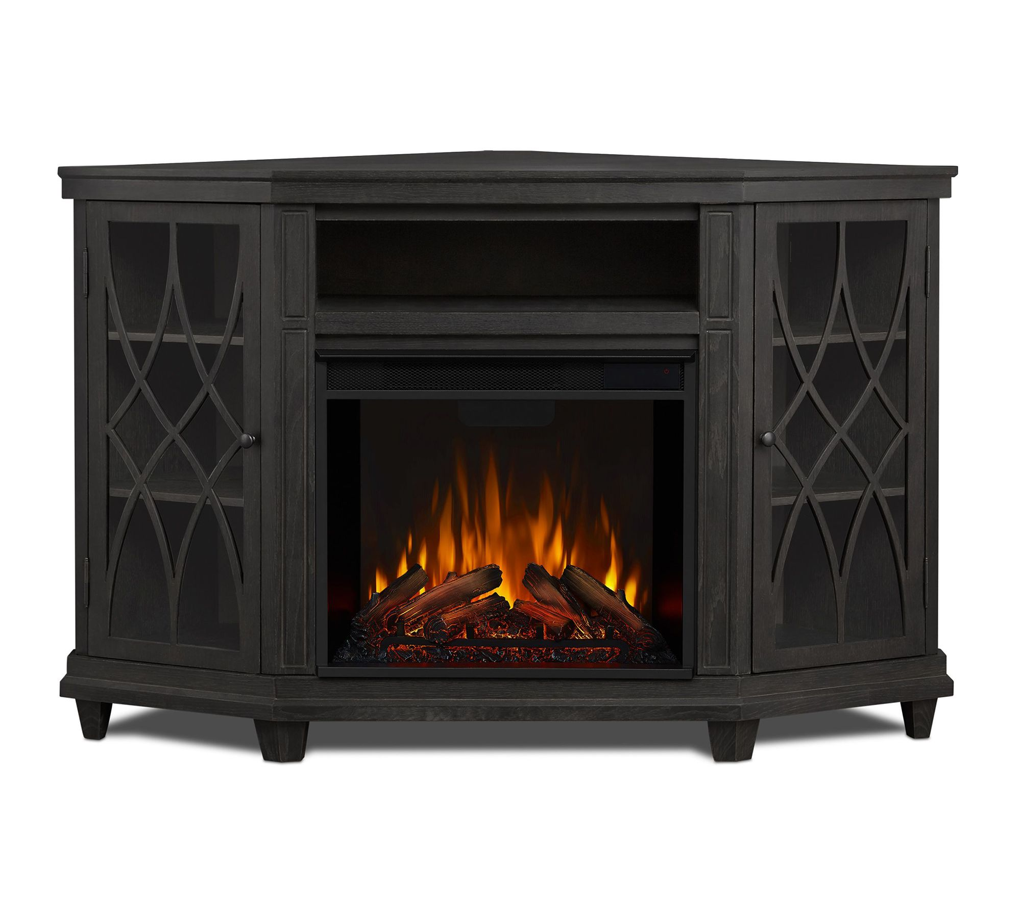 Real Flame Lynette Indoor Electric Fireplace Qvc Com