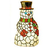 Tiffany Style 8-1/2 Snowman Accent Lamp - H58167