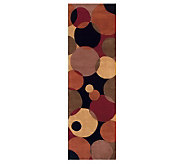 Momeni New Wave Circles 26 x 12 Handmade Wool Runner - H161768