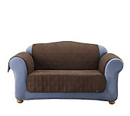 Sure Fit Soft Faux-Suede Furniture Pet Love Seat Throw - H174468