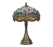 Tiffany Style 18-1/2H Hanginghead Dragonfly Accent Lamp - H181368