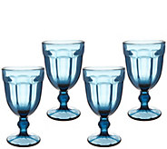 Set of 4 Footed Glass Goblets by Valerie - H214968