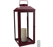 Martha Stewart Indoor/ Outdoor 24 Lantern w/ Pillar Candle & Remote - H217168