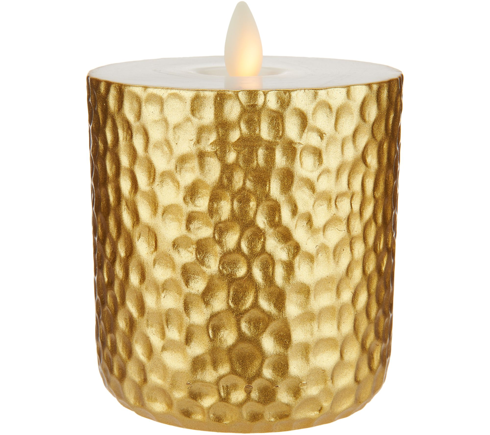 As Is Bethlehem Lights 4 5 Metallic Touch Candle Qvc