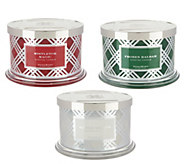 HomeWorx by Harry Slatkin Set of 3 Deluxe 18 oz. 4-Wick Candles - H215969