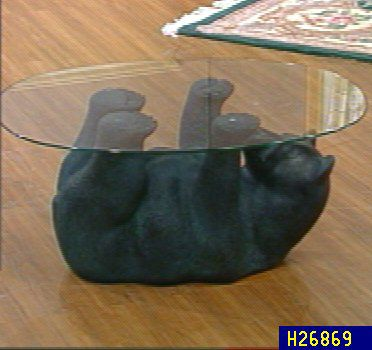 Exceptionnel Glass Top Bear Cocktail Table U2014 QVC.com