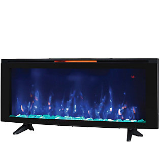 """ClassicFlame Luminosity 48"""""""" Wall-Mounted Electr ic Fireplace"""