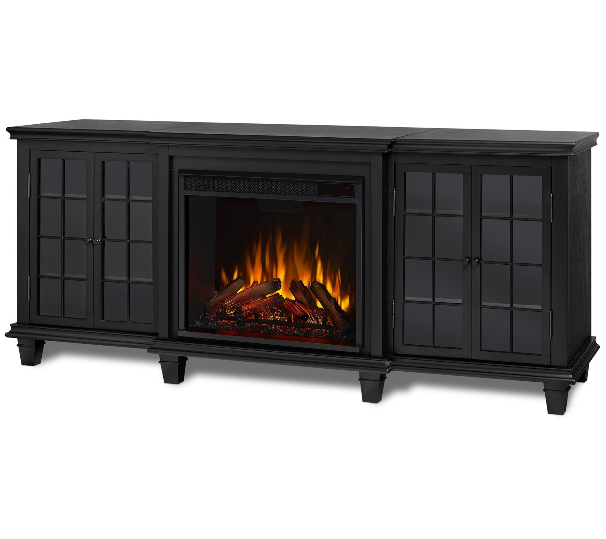 Real Flame Marlowe Entertainment Indoor Electric Fireplace Qvc