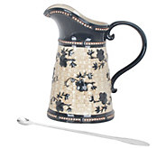 Temp-tations Floral Lace Basketweave Pitcher with Stirrer - H303269