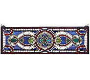 Tiffany Style Evelyn in Lapis Transom Window Panel - H131370