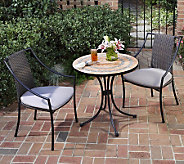 Home Styles Terra-Cotta Bistro Table and 2 Laguna Arm Chairs - H187370